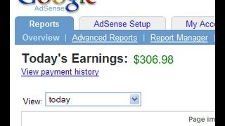 One click equals  $ 1.12 on Google Adsense