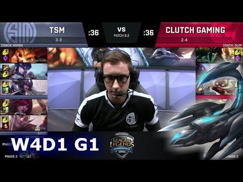 TSM vs Clutch Gaming   Week 4 Day 1 of S8 NA LCS Spring 2018   TSM vs CG W4D1 G1