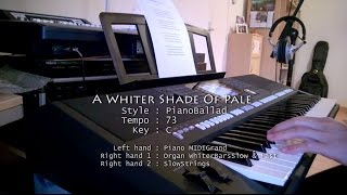 A WHITER SHADE OF PALE - PSR S950 Cover