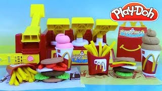 Pâte à modeler Play Doh Mcdonald's Happy Meal Playshop Playset Frites Hamburgers