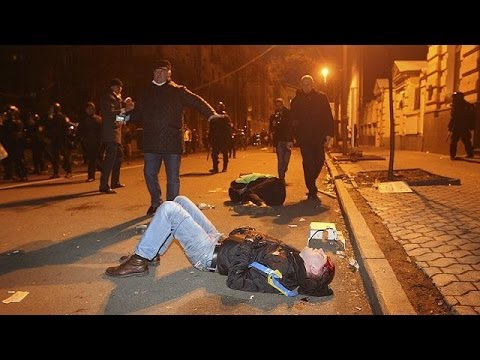 Violence in Kyiv mars weekend of pro-Europe rallies
