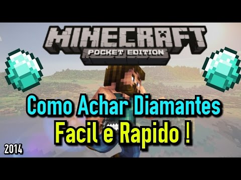 Como achar Diamantes no Minecraft PE Facil e Rapido