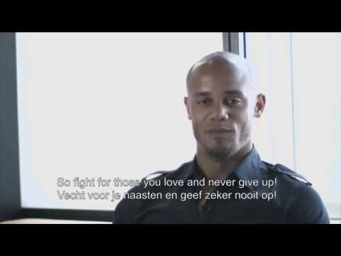 Vincent Kompany cheers for Tarec Saffiedine!