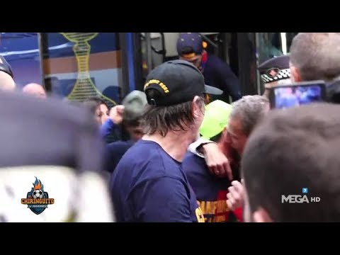 Cristóbal Soria acabó abrazado a Messi en la RÚA del Barça