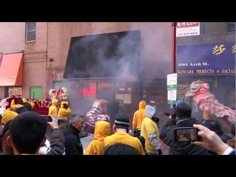 Massive fire Cracker Chinese New Year Philadelphia 2013