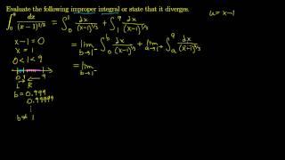 Improper Integrals - Discontinuity between the bounds