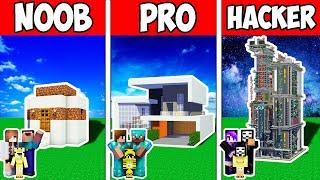 Minecraft NOOB vs PRO vs HACKER : FAMILY SMART BLOCK HOUSE EVOLUTION | Animation