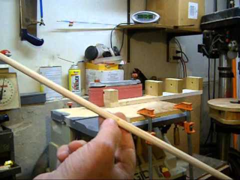 DIY Making Arrow Shafts with a Belt Sander