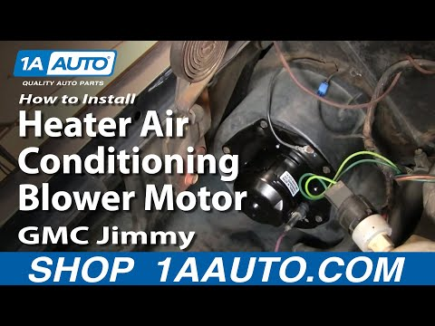 How To Install Heater Air Conditioning Blower Motor Chevy GMC Pickup Truck 1AAut
