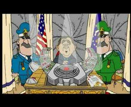 cartoon bush plant. Bush Vs Bin Laden - 2DTV