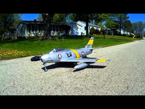 Freewing  F-86 Sabre  80mm EDF Jet  (Speed Build and Review, then Outside to Taxi)