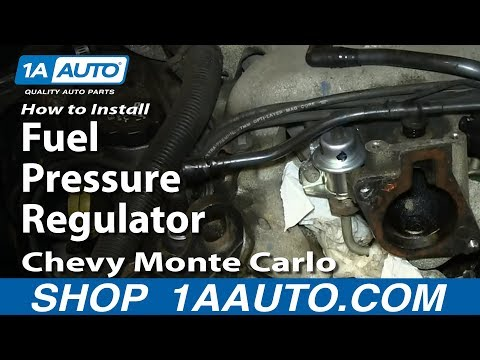 How To Install Replace Fuel Pressure Regulator 3.4L Chevy Monte Carlo