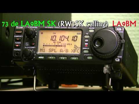 LA9BM working VK6iR on 10 Mhz