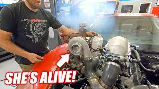 The Auction Corvette COMES TO LIFE w/it's NEW Version 3.0 Junkyard Engine! (Sounds like Freedom)