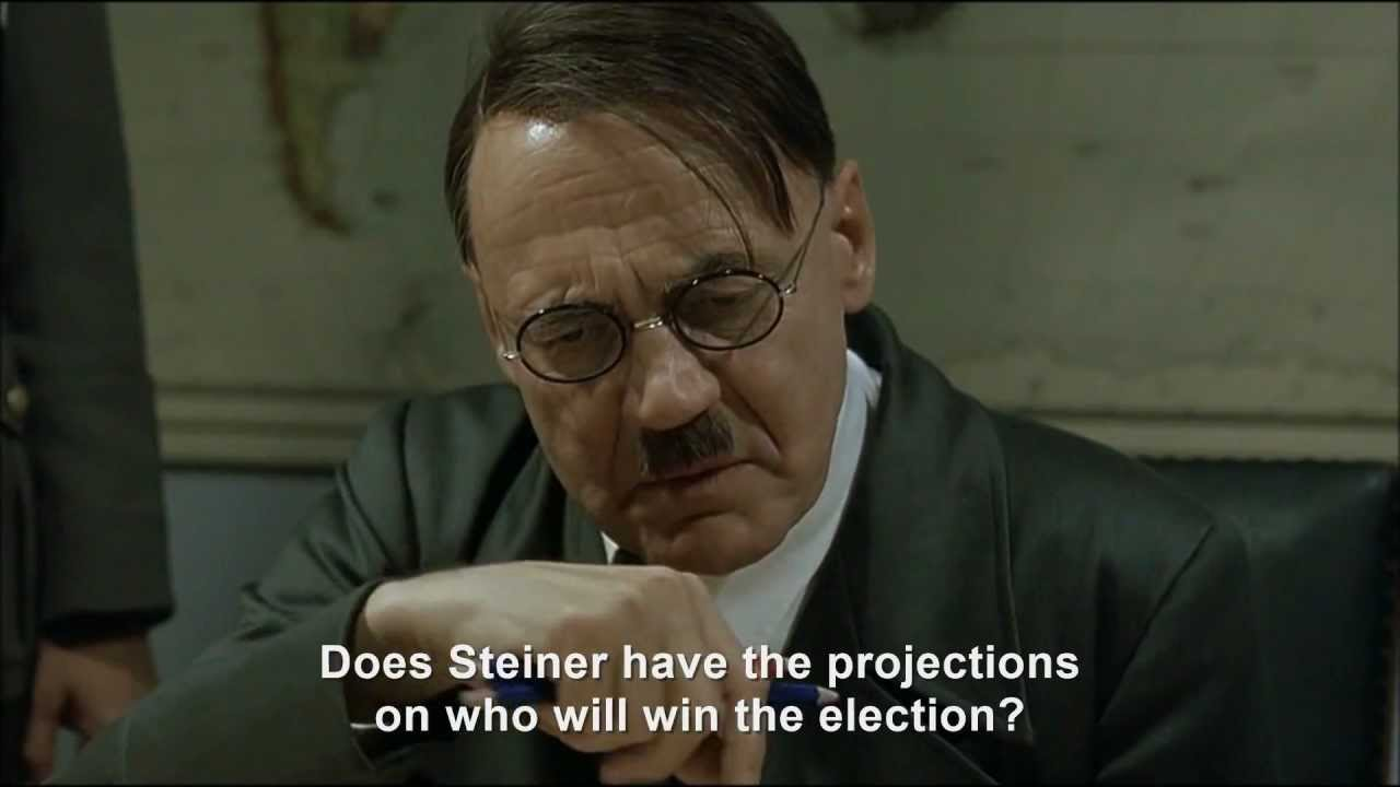 Hitler finds out Obama has been re-elected