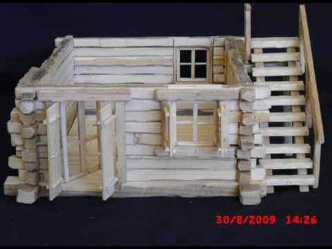 Modellini casette baite di legno youtube for Costo di costruzione casa fai da te