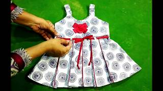 1 YEAR BABY FROCK: simple&stylish baby frock cutting and stitching