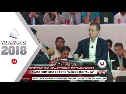 Con reforma a telecom, Anaya busca cerrar brecha digital