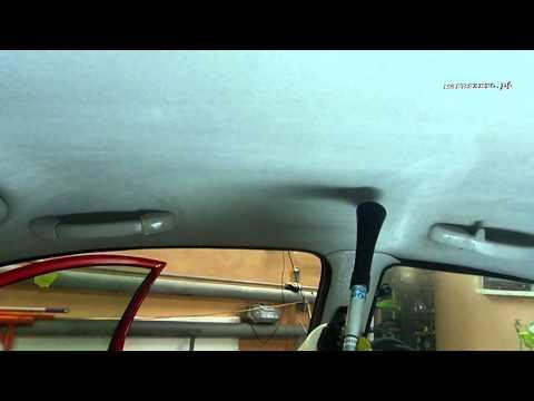 Чистка потолка машины своими руками