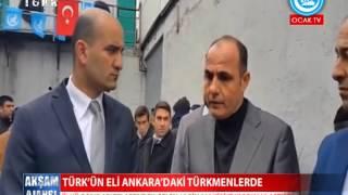 Ülkü Ocakları yardımları Telafer'den Ankara'ya gelen Türkmenlere teslim etti