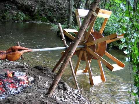 Waterwheel Spit Roast Burn Pig Youtube
