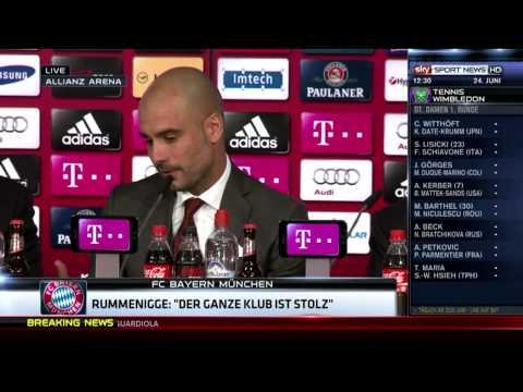 Pep Guardiola Pressekonferenz volle Länge - Willkommen beim FC Bayern München 24.06.2013