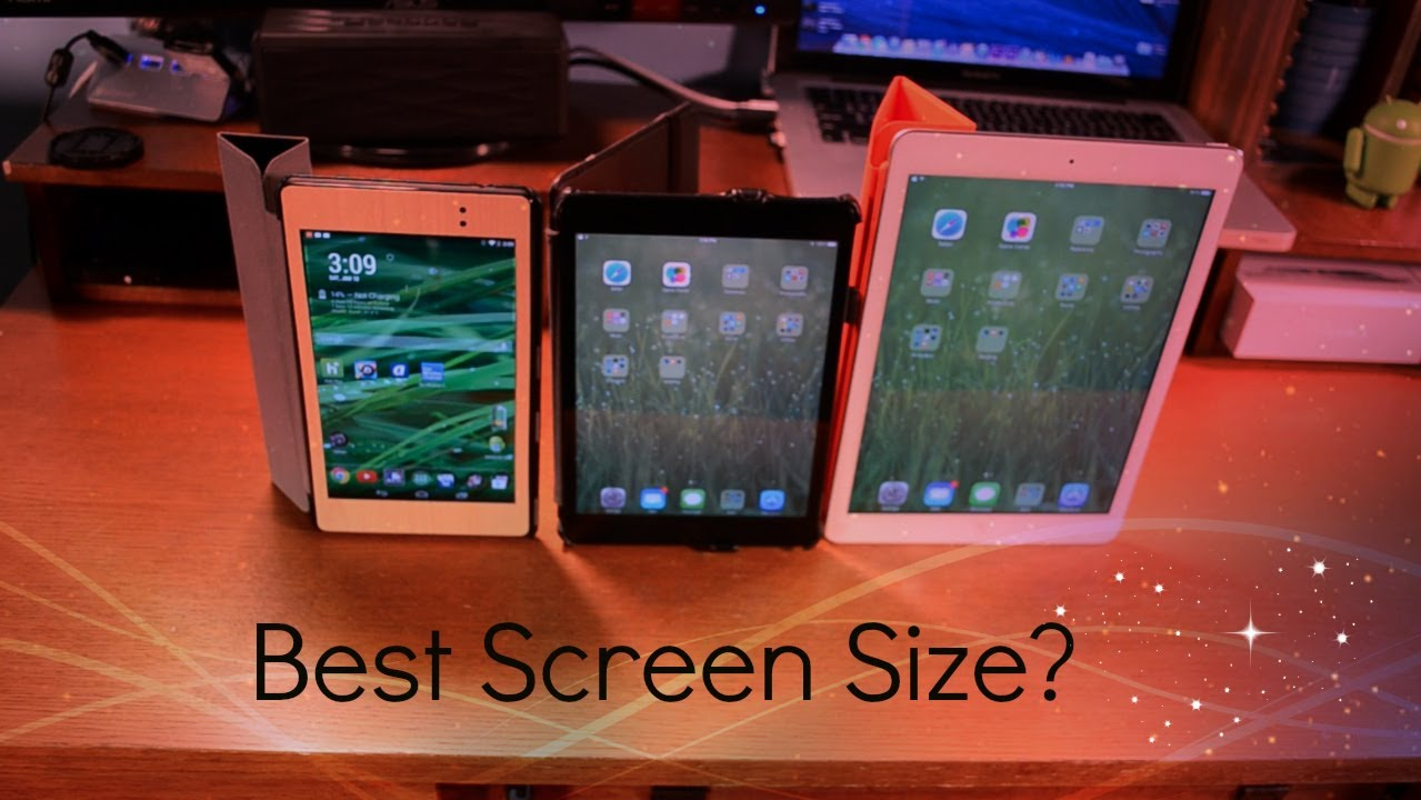 What is the best tablet screen size 2014 youtube for Table th size
