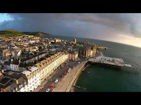 Aberystwyth  in HD  from the sky