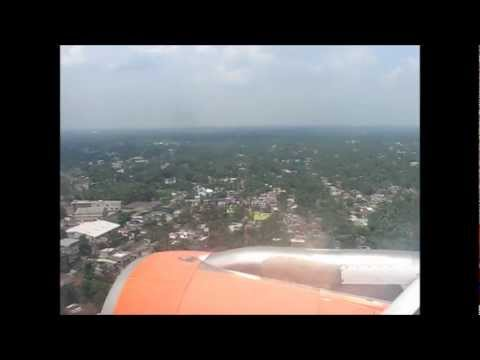 Landing at Kolkata (CCU) Onboard Air India Airbus A319 VT-SCC