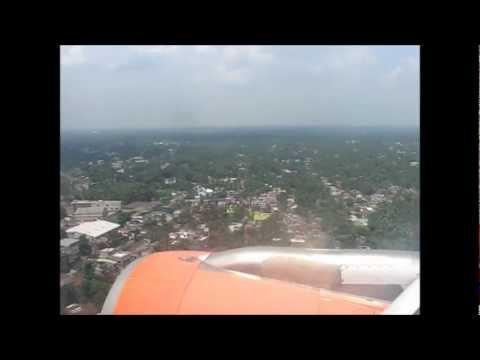 Landing at Kolkata (CCU) Onboard Air India Airbus A319 VT-SCC