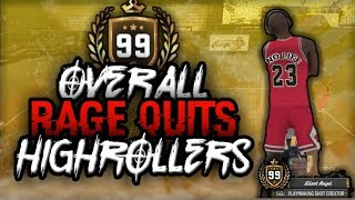 99 OVERALL V.I.P. NO LIFE RAGE QUIT AT HIGHROLLERS - NBA 2K18