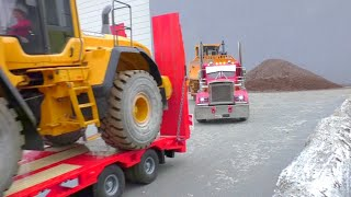 CONSTRUCTION SITE,  two Trucks and heavy load! Amazing RC models!
