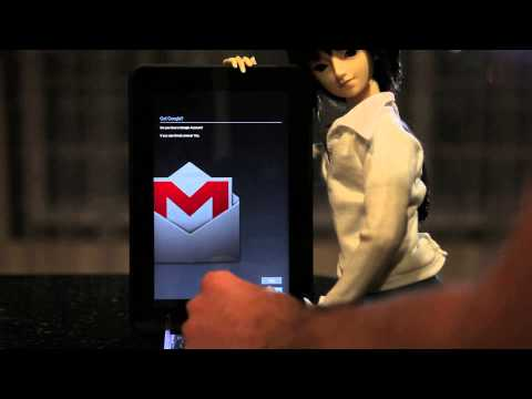 Early demo of CM10 on Kindle Fire HD 8.9