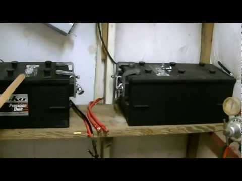 How to connect solar panels to battery bank/charge controller/inverter.  Wiring diagrams