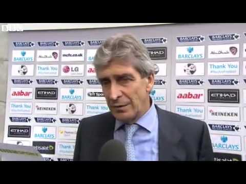 Manuel Pellegrini Post Match Interview Manchester City vs Everton 3 1 [5.10.2013] HD