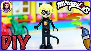 Lego Cat Noir Minidoll Custom Miraculous Ladybug Makeover DIY Craft Tutorial