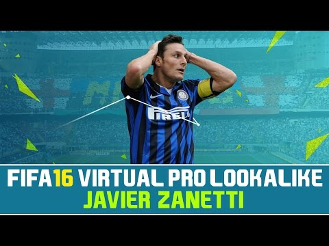 FIFA 16 | VIRTUAL PRO LOOKALIKE TUTORIAL - JAVIER ZANETTI