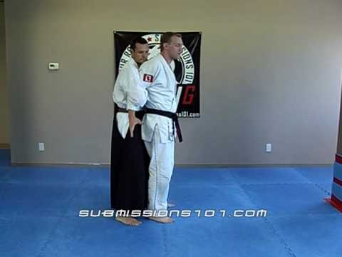 Japanese Jujutsu Technique:Self Defense: Bridge takedown and armbar Image 1