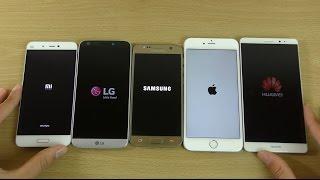LG G5 vs Galaxy S7 vs iPhone 6S+ vs Xiaomi Mi5 vs Huawei Mate 8 - Which is Fastest?