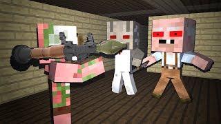 Monster School : GRANNY VS GRANDPA HORROR GAME CHALLENGE II - Minecraft Animation