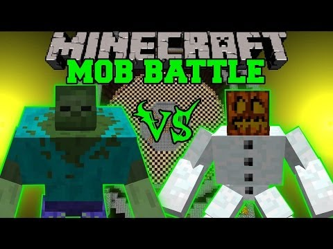 MUTANT SNOW GOLEM VS MUTANT ZOMBIE Minecraft Mob Battles Mutant Creatures Mods