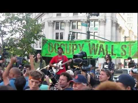 Tom Morello Occupy Wall Street Foley Square NYC 9/16/2012 HD