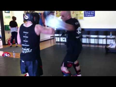 Give and take kickboxing drills at Evade Image 1