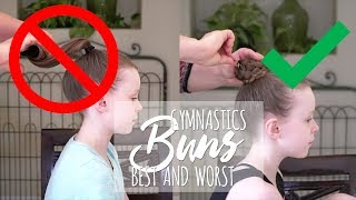 Gymnastics Hair Buns - Best and Worst