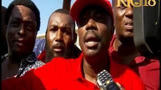 Manifestation Haiti - Moise Jean-Charles devant l'Ambassade des Etats-Unis d'Amerique