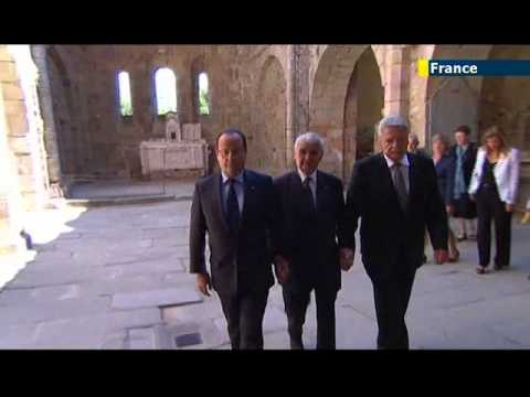 German President Joachim Gauck visits site of worst Nazi WWII massacre in occupied France