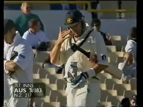 Mark Waugh Longest Six ever off Vettori Perth, 1997