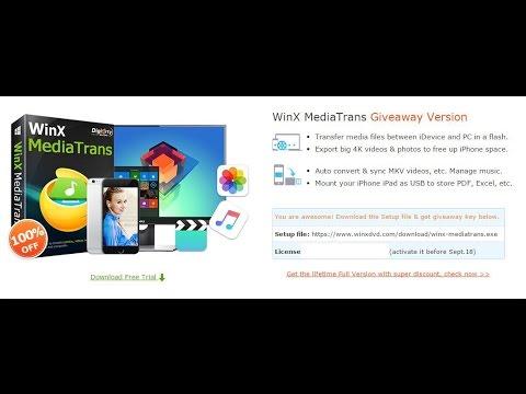 Winx MediaTrans iOS Media Transfer Software For Windows PC
