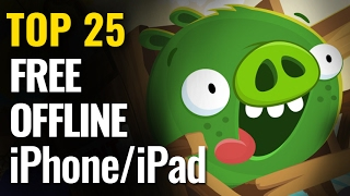 Top 25 FREE OFFLINE iPhone & iPad Games | iOS No internet required