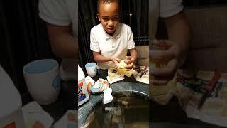 Darius Jenkins making popcorn slime